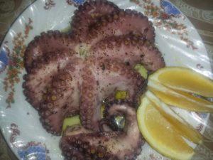 Октопод с лимон